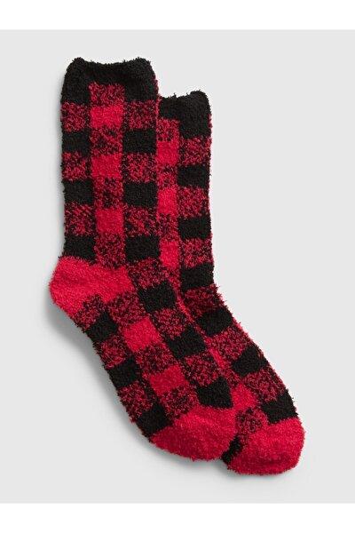Kadın Kırmızı Cozy Çorap