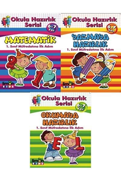 Okula Hazırlık Serisi 6-7 Yaş 3'lü Set ( Okumaya Hazırlık - Yazmaya Hazırlık - Matematik )