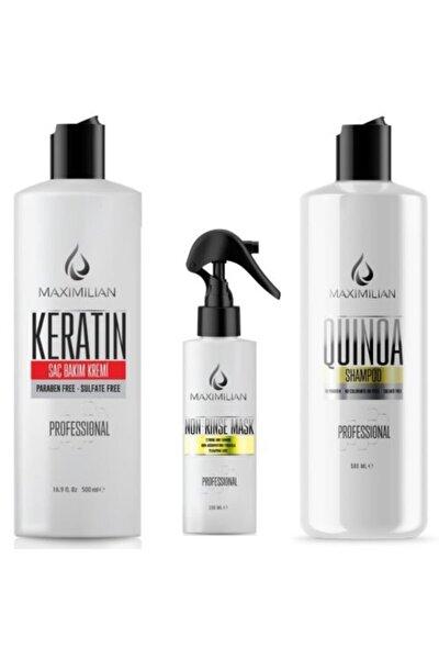 Glutensiz Tuzsuz Şampuan Keratin Bakım Kremi Nemlendirici Şampuan Durulanmayan Krem Saç Kremi
