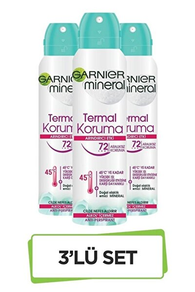Mineral Termal Koruma Sprey Deodorant 3'lü Set 36005419288483