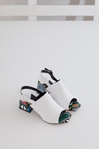 Kadın Beyaz Tabanlı Topuklu Ayakkabı