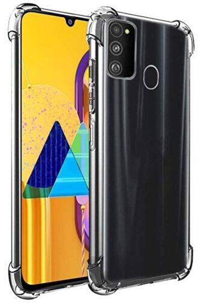 Samsung Galaxy M21 Şeffaf Airbag Antishock Köşe Korumalı Silikon Kılıf