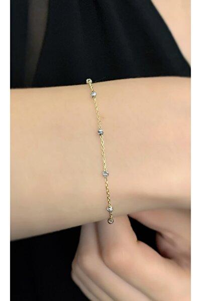 Dorika Toplu Ince Minimal Zincir Gümüş Bileklik