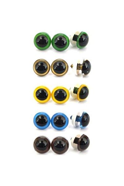 Amigurumi 10 mm Renkli Göz ( 50 Çift 100 adet )