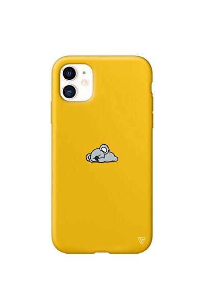 Iphone 11 Sarı Renkli Silikon Koala Telefon Kılıfı