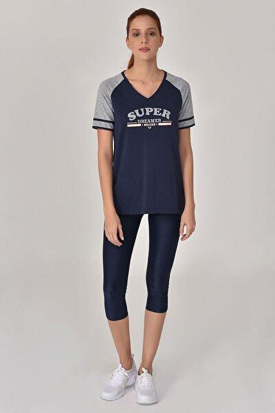 Lacivert Kadın T-Shirt GS-8616
