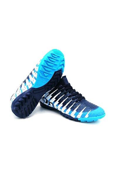 1453 Çocuk Mavi Çoraplı Halısaha Futbol Ayakkabısı