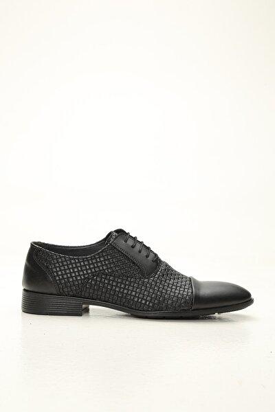 Erkek Siyah Deri Klasik Ayakkabı