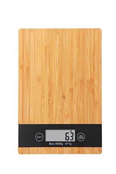 1 Gr-5 Kg A Kalite Lüks Dijital Ekranlı Ahşap Hassas Elektronik Mutfak Terazisi-tartısı