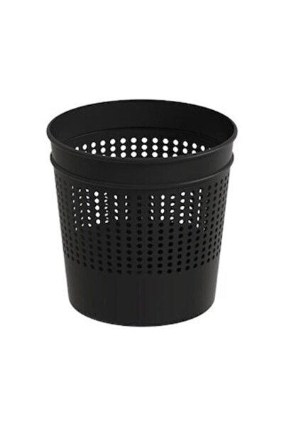 Maxıflow Ofis Tipi Delikli Metal Çöp Kovası Siyah