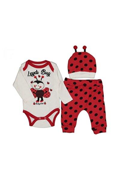 Unisex Bebek Kırmızı Uğur Böceği Baskılı Badili Takım