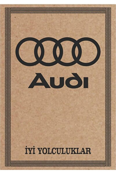 Cihan Audi Amblem Baskılı Oto Paspas Kağıdı 100 Adet 35x50 135 gram