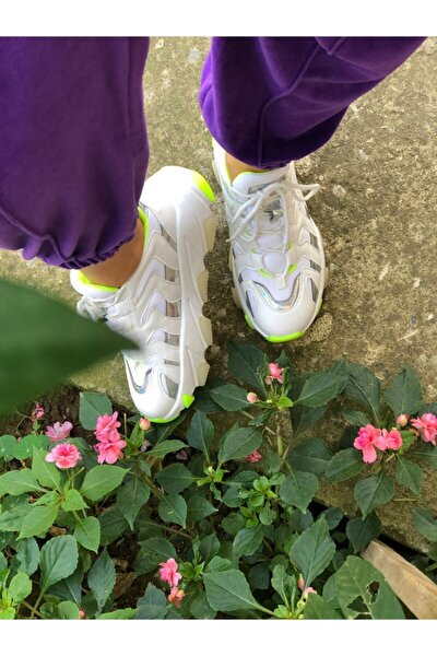 Kadın La Rouge Ayakkabı Neon Yeşil