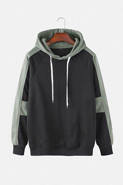 Erkek Siyah Kapüşonlu Sweatshirt da-20kyt00052