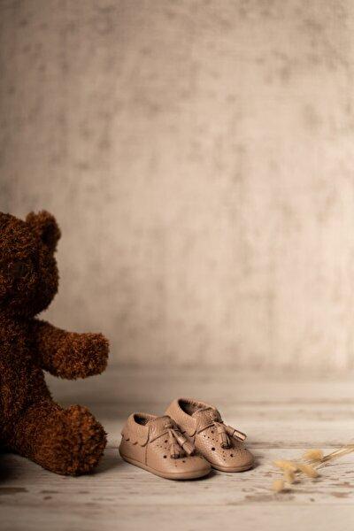 Erkek Bebek Kahverengi Royal Serisi  Deri  İlk Adım Ayakkabısı