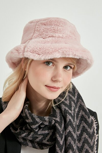 12839-1 Pembe Renk Bucket Şapka