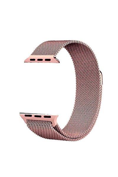 Apple Watch Se 40 Mm Kordon Hasır Metal Örgülü Ayarlanabilir Bronz
