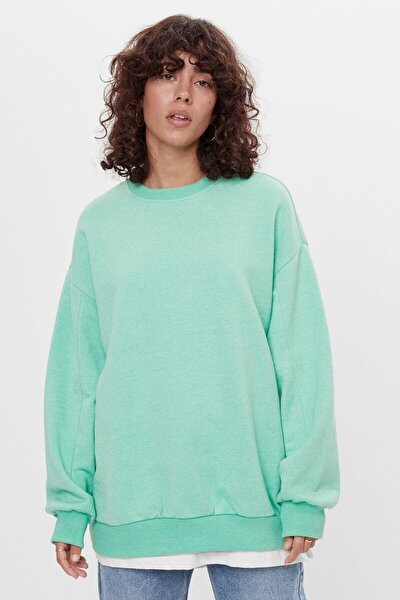 Kadın Yeşil Oversize Sweatshirt