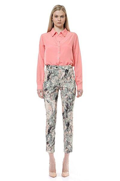 Kadın Somon Dantel Şeritli Gömlek