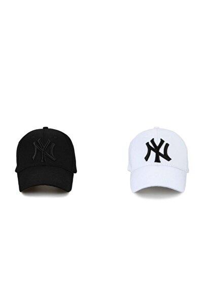 Ideal Ny New York 2'li Unisex Set Şapka [siyah-beyaz]
