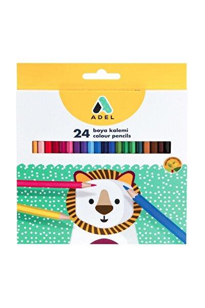 Kuru Boya Kalemi 24 Renk Tam Boy