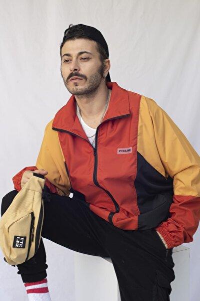 Erkek Renkli Kiremit Bomber Ceket