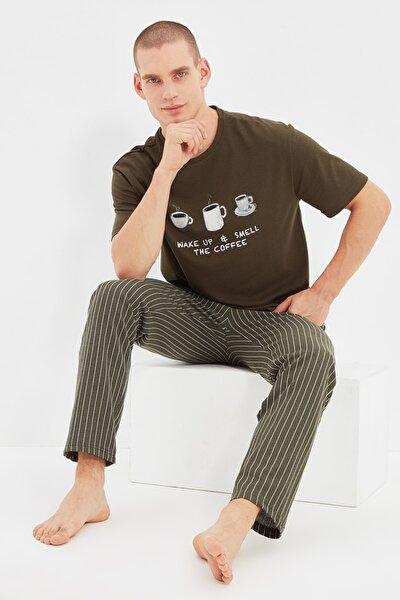Haki Baskılı Pijama Takımı THMAW21PT0833
