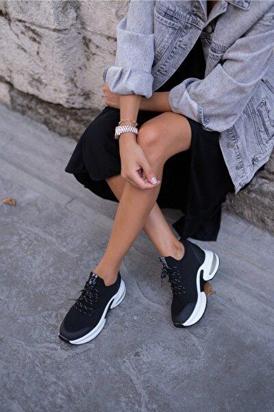 Wöber Kadin Siyah Gizlitopuk Sneakers