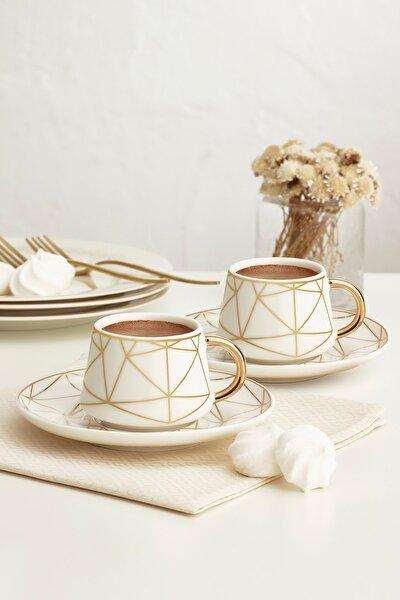 Altın Çağ Yeni 6 Kişilik Kahve Fincanı Takımı