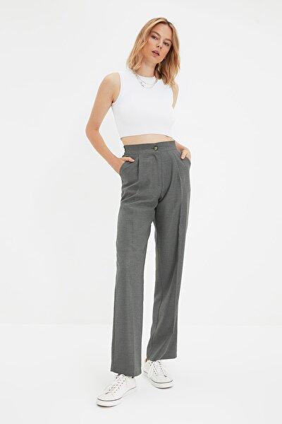 Gri Geniş Paça Tall Pantolon TWOAW22PL0321