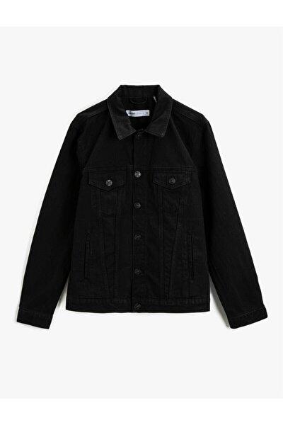 Erkek Siyah Jean Ceket