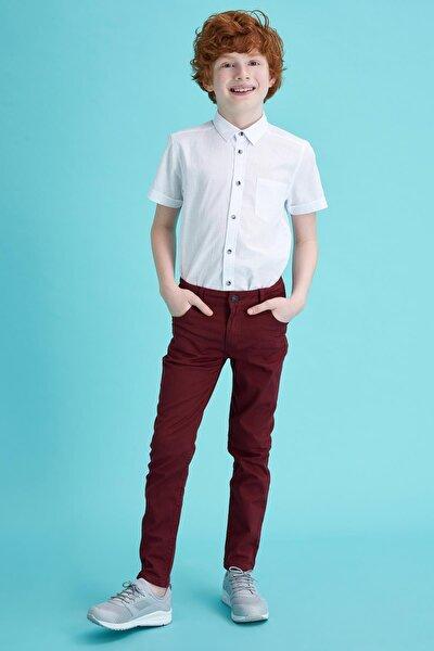 Erkek Çocuk Slim Fit Dokuma Pantolon