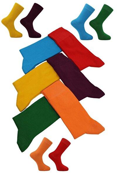 Unisex 6'lı Renkli Çoraplar
