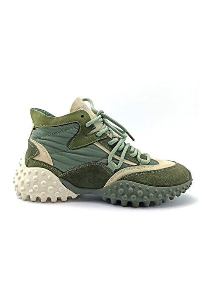 21k320-1 Yeşil Kadın Sneaker Ayakkabı
