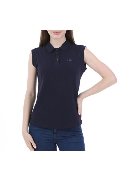 Kadın Lacivert Wws Rdk Kolsuz Polo T-shirt
