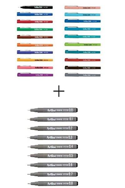 Drawing 9'lu + 200 Set 20 Renk