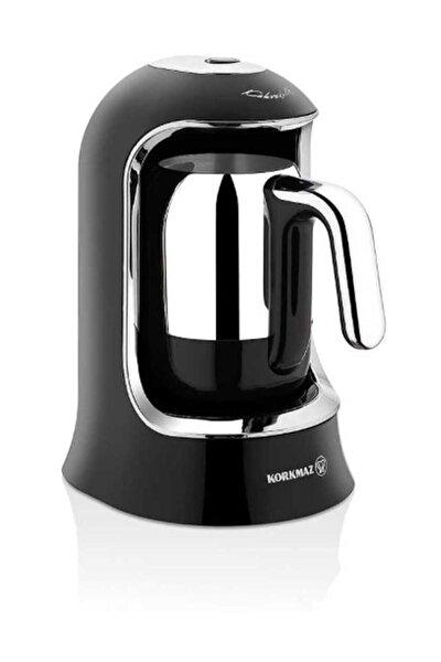 A860 07 Kahvekolik Siyah Krom Otomatik Kahve Makinesi