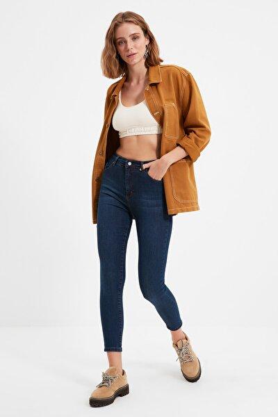 Lacivert Yüksek Bel Skinny Jeans TWOAW21JE0450