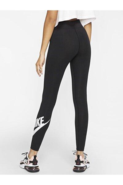Sportswear Yüksek Belli Siyah Tayt