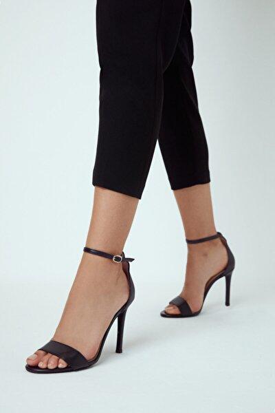 Kadın Casual Topuklu Deri Sandalet
