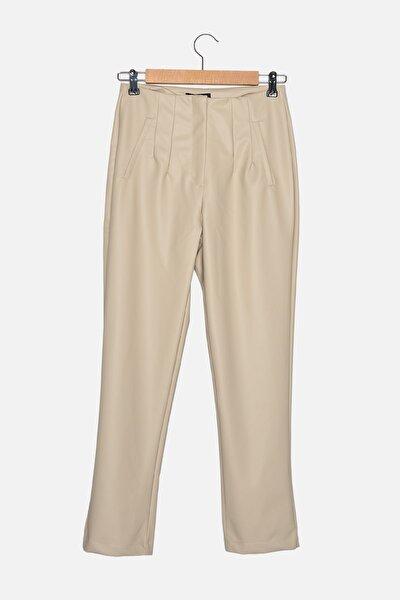 Bej Düz Pantolon TWOAW22PL0177