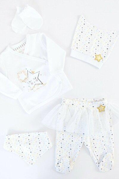 Bebek Beyaz Yıldızlı Kız 5'li Hastane Çıkışı