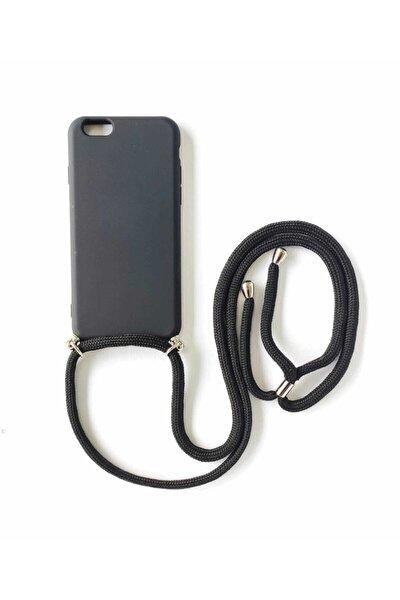 Iphone 6 / 6s Içi Kadife Lansman Boyun Askılı Ipli Kılıf