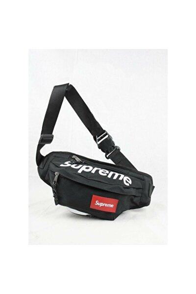 Unisex Siyah Boyun Bel Ve Omuz Askılı Çanta