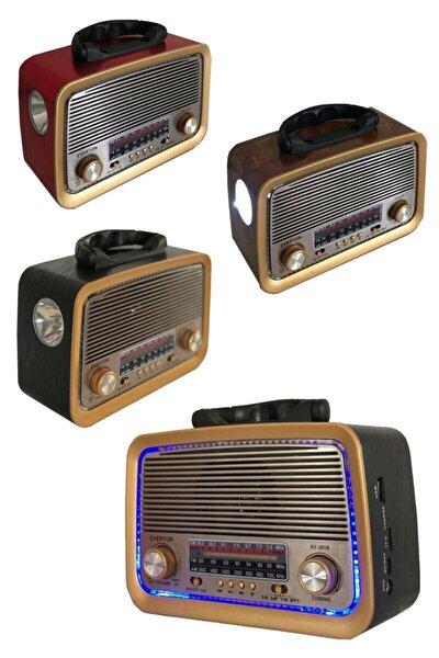 301 Ahşap/kahve Usb-tf Bluetooth 3 Band Klasik Radyo