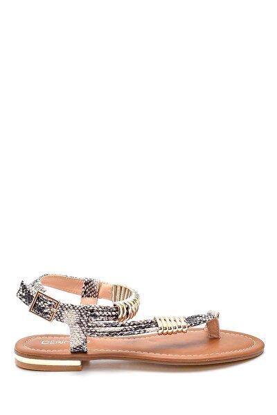 Kadın Parmak Arası Detaylı Casual Sandalet