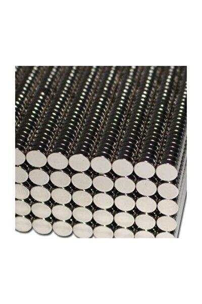 50 Adet 6mm X 2mm Yuvarlak Güçlü Neodyum Mıknatıs Magnet,