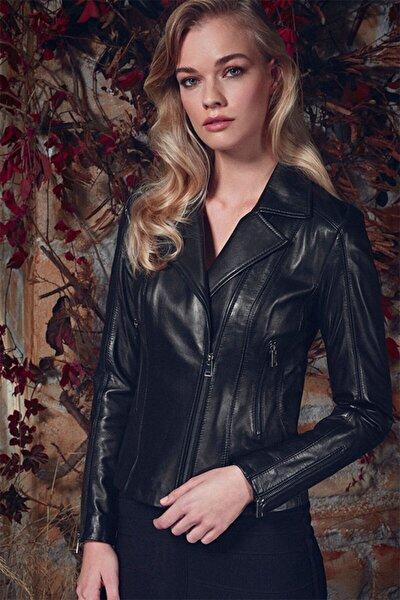 Kadın Siyah Kiara Deri Ceket