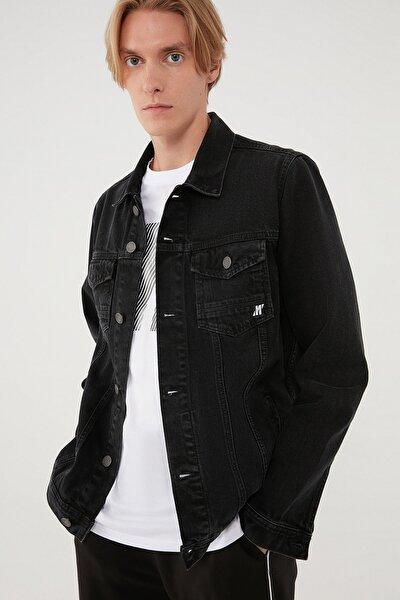 Erkek Drake Koyu Gri Black Pro Jean Ceket 010143-32231