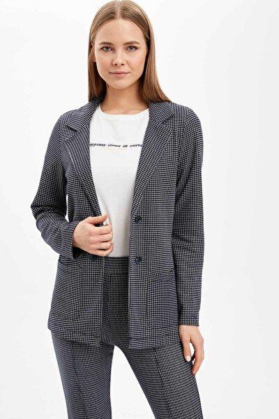 Oversize Fit Cep Detaylı Blazer Ceket